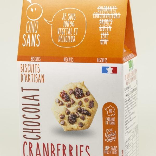 biscuits cranberries chocolat