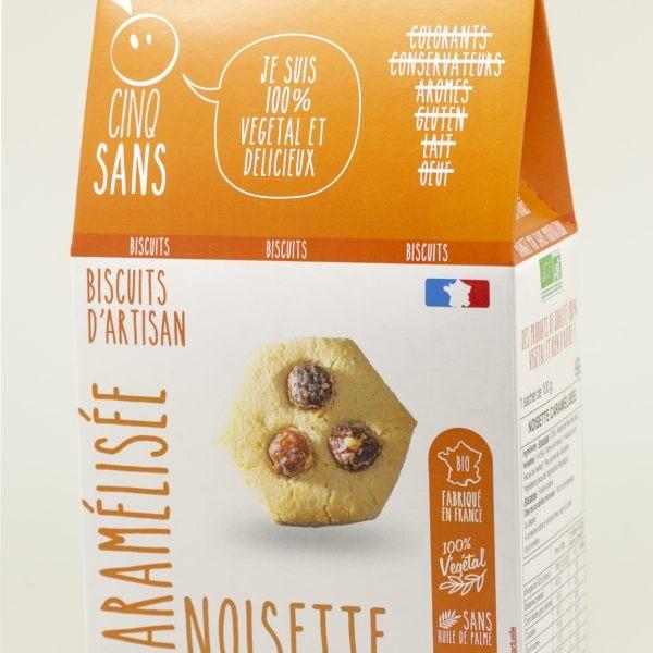 biscuits noisette caramélisée 100% végétal
