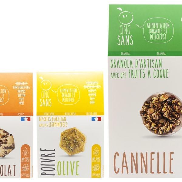 Pack découverte de biscuits vegan sans ogm