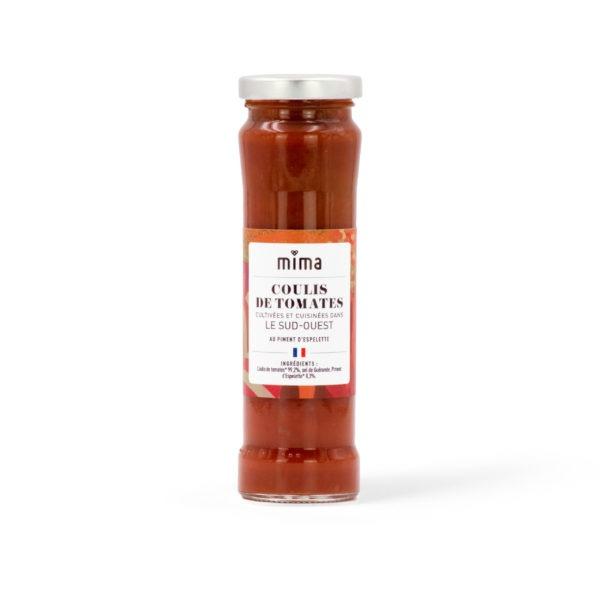 Coulis de tomates au piment d'espelette