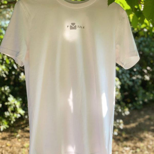T-shirt blanc vegan puzzle