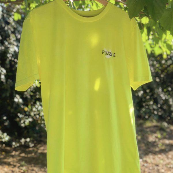 T-shirt organique puzzle jaune