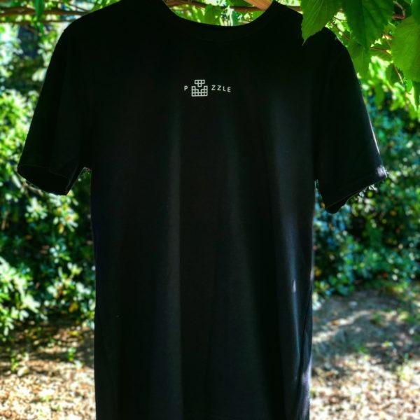T-shirt bio noir puzzle